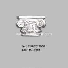 PU Decorative Ionic Column Capitals